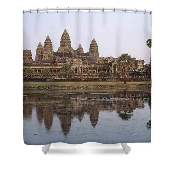 Angkor Wat, A Buddhist Temple Shower Curtain