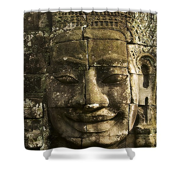 Angkor Wat Face Shower Curtain