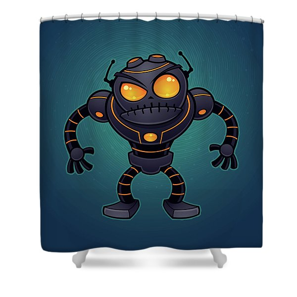 Angry Robot Shower Curtain