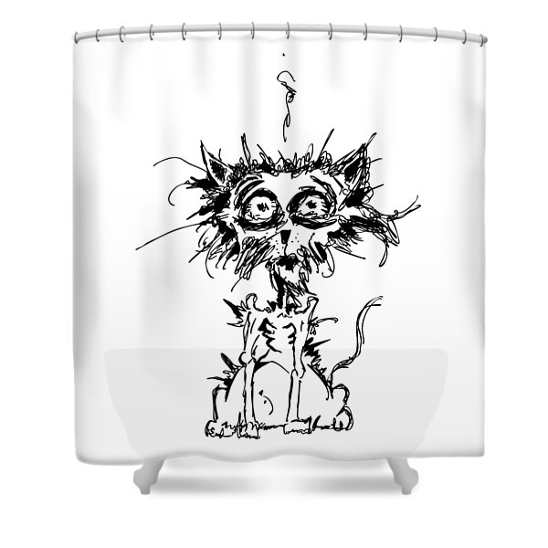 Angst Cat Shower Curtain