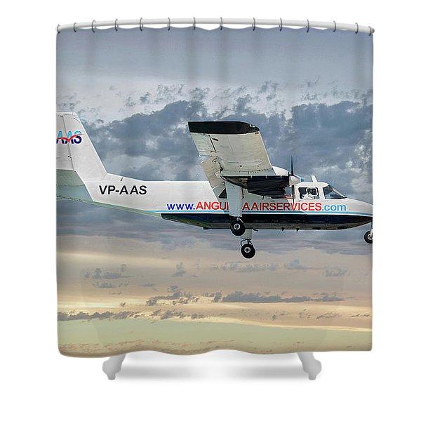 Anguilla Air Services Britten-norman Bn-2a-26 Islander 114 Shower Curtain