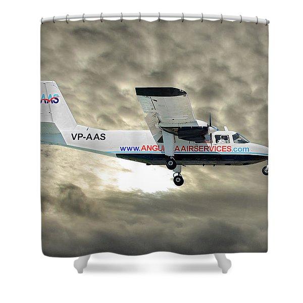 Anguilla Air Services Britten-norman Bn-2a-26 Islander 115 Shower Curtain