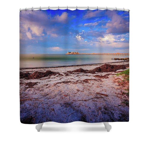 Anna Maria City Pier Shower Curtain