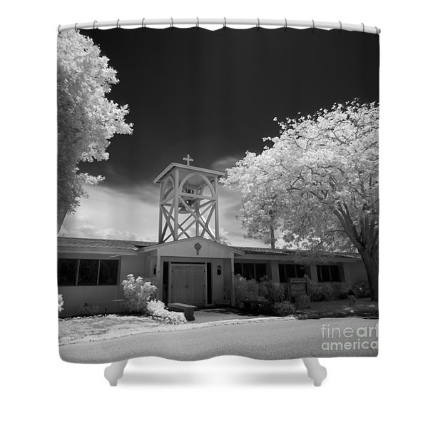 Anna Maria Island Church Of The Annunciation Shower Curtain