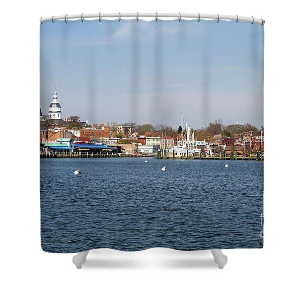 Annapolis City Skyline Shower Curtain