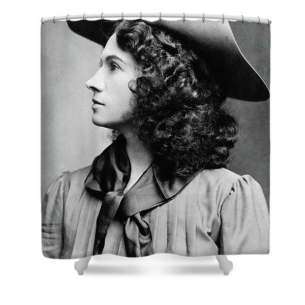 Annie Oakley Profile Shower Curtain