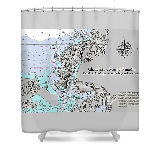 Annisquam And Wingaersheek Beach Shower Curtain