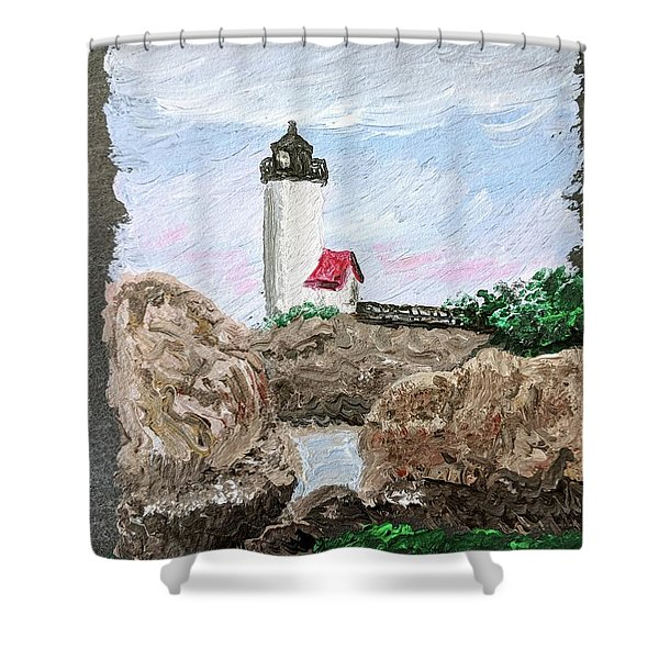 Annisquam Sunset 1 Shower Curtain