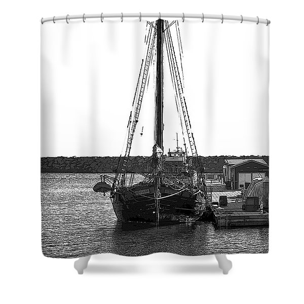 Anomaly Ship Poster Shower Curtain