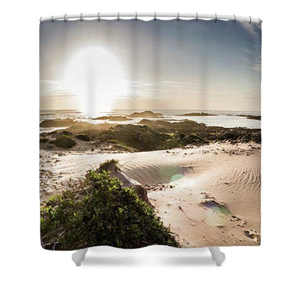 Another Beach Sunset Shower Curtain