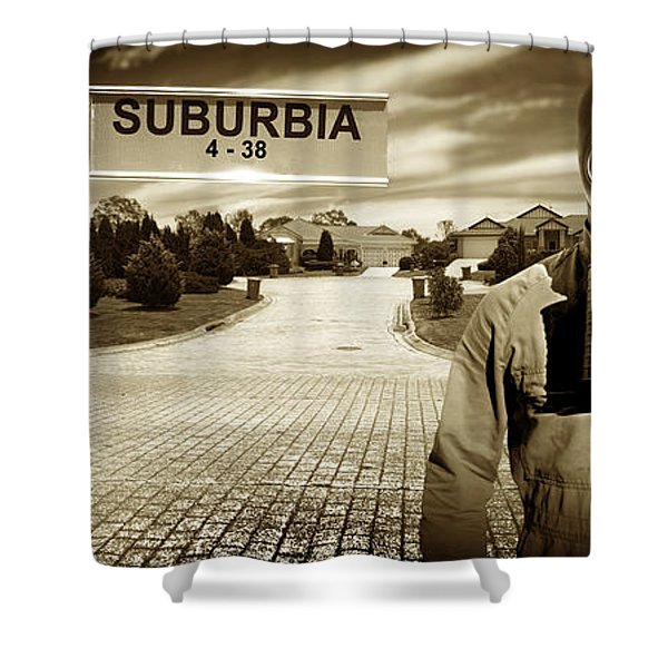 Another Day In Suburbia Shower Curtain