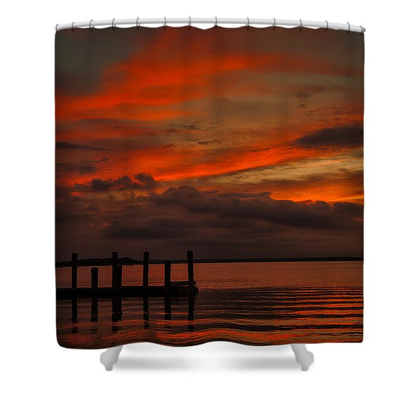 Another Day Is Done Shower Curtain