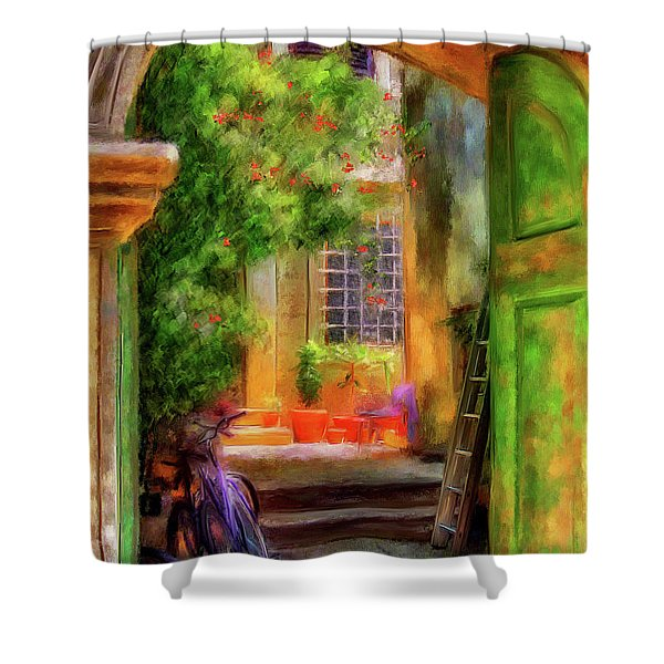 Another Glimpse Shower Curtain