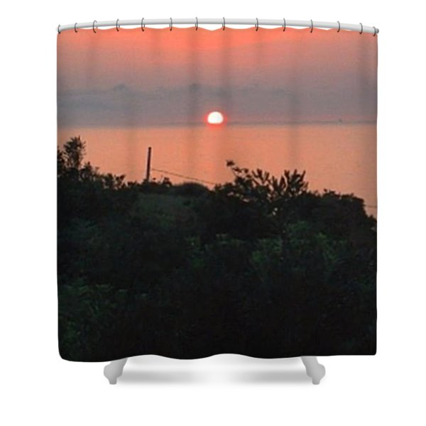 Another Gorgeous Sunset Picture Taken Shower Curtain