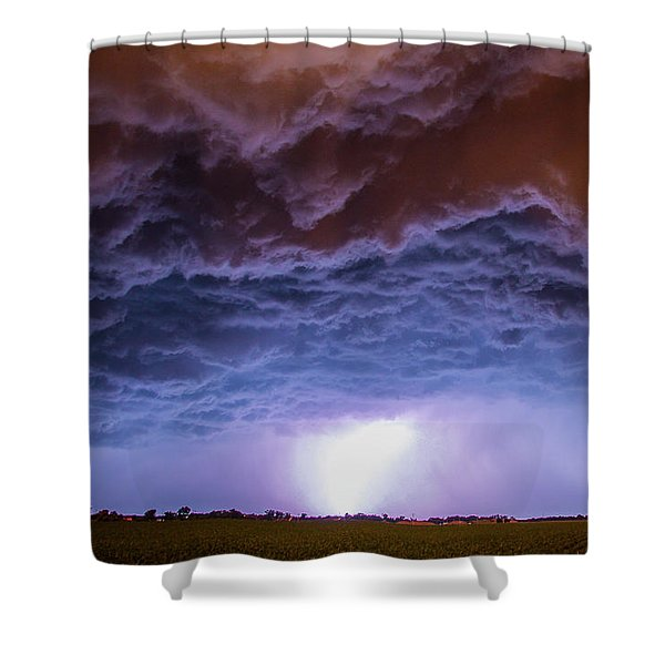 Shower Curtain featuring the photograph Another Impressive Nebraska Night Thunderstorm 007 by NebraskaSC