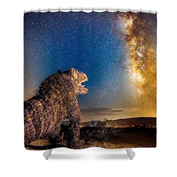 Another Monster At Borrego Springs Shower Curtain