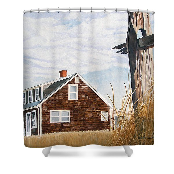 Shower Curtain featuring the painting Another New England Sunrise by Dominic White