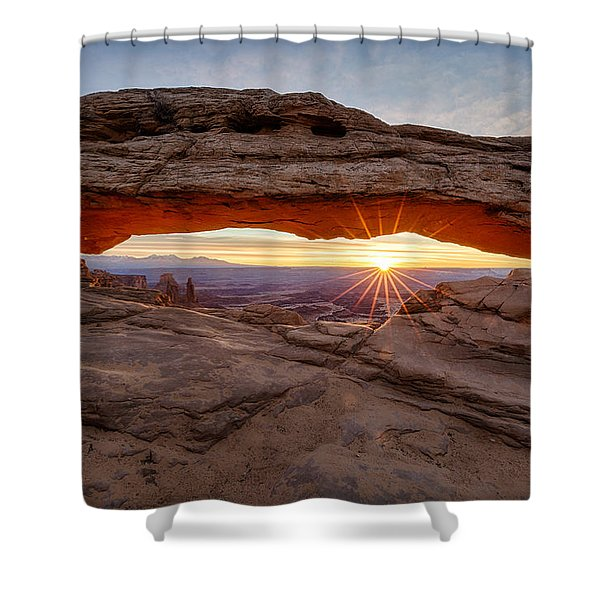 Another Sunrise At Mesa Arch Shower Curtain
