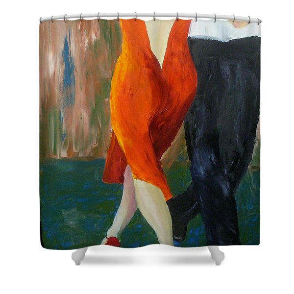 Another Tango Twirl Shower Curtain