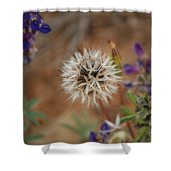 Another White Flower Shower Curtain