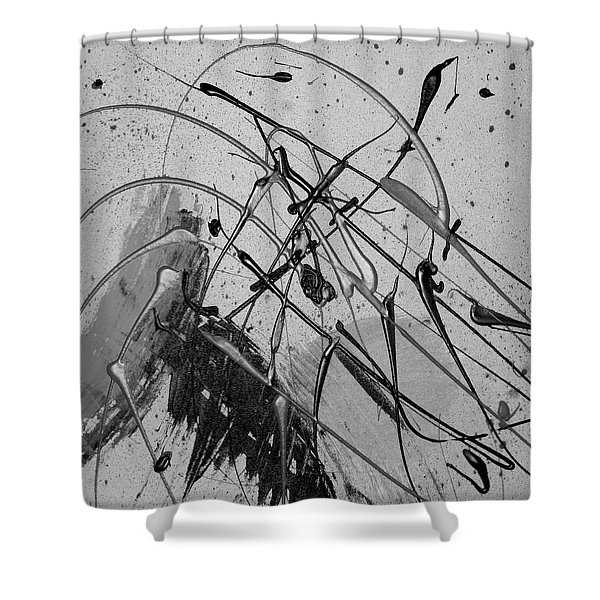 Shower Curtain featuring the painting Another World by Michael Lucarelli