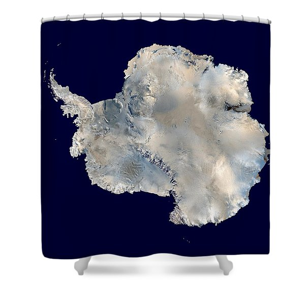 Antarctica From Blue Marble Shower Curtain