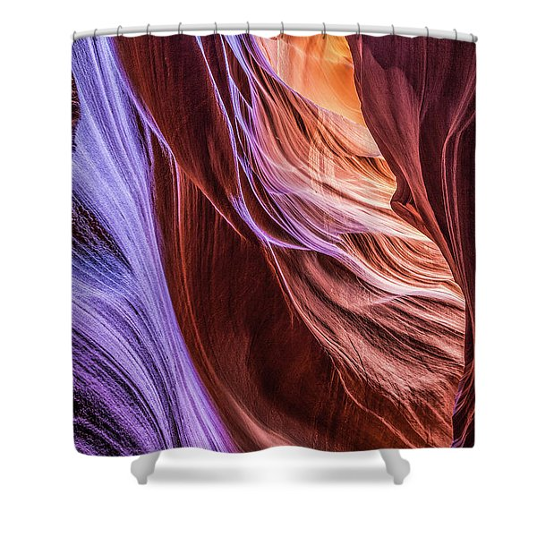 Antelope Canyon Air Glow Shower Curtain