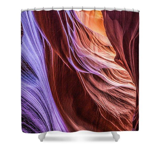 Antelope Canyon Air Glow Shower Curtain