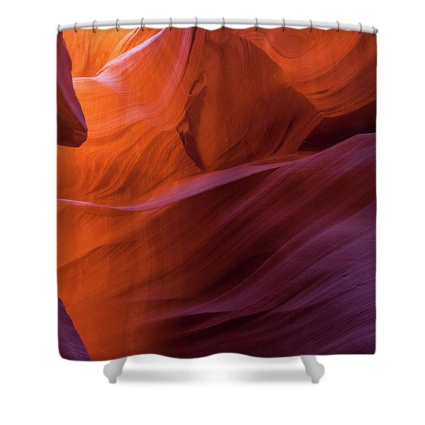 Antelope Canyon Fire Shower Curtain