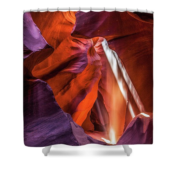 Antelope Canyon Lightshaft 3 Shower Curtain