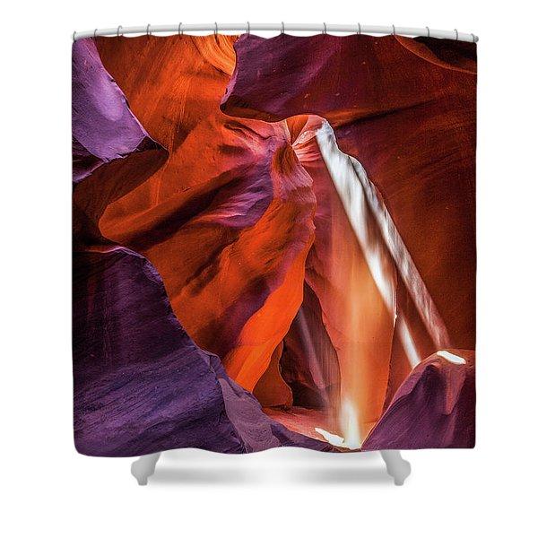Antelope Canyon Lightshaft 3 Shower Curtain