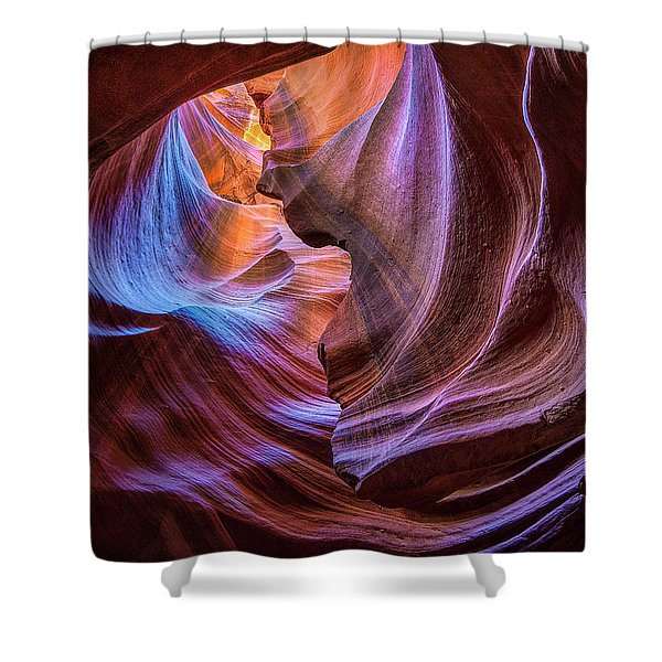 Antelope Canyon Swirl Shower Curtain