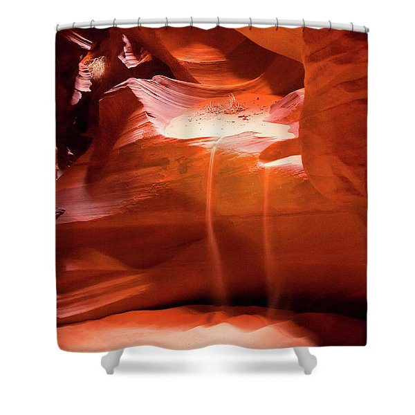 Antelope Canyon - The Falls Shower Curtain