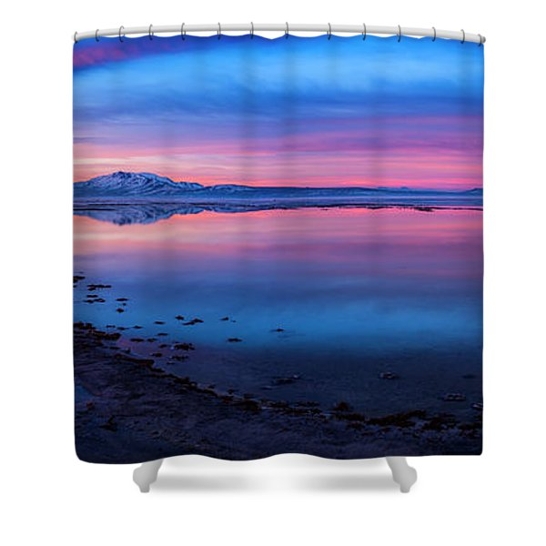 Antelope Island Sunrise Shower Curtain