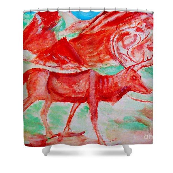 Antelope Save Shower Curtain