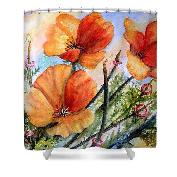 Antelope Valley Poppy Fields Shower Curtain