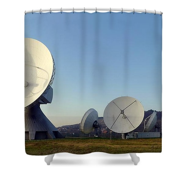 Antenna Array 2 Of The Earth Station  Shower Curtain