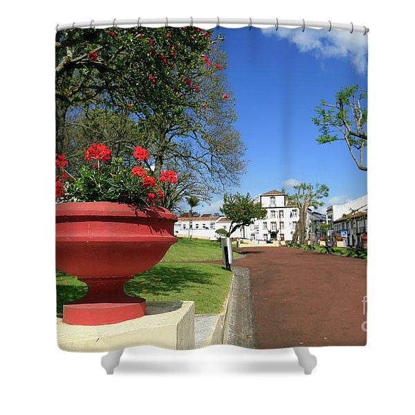 Antero De Quental Park Shower Curtain