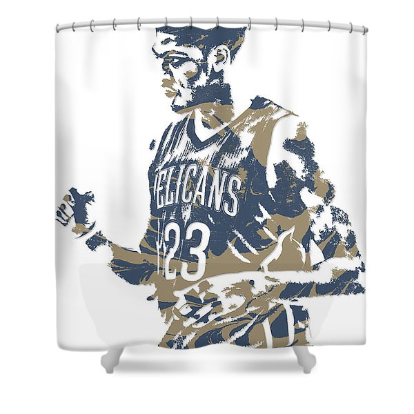 Anthony Davis New Orleans Pelicans Pixel Art 12 Shower Curtain