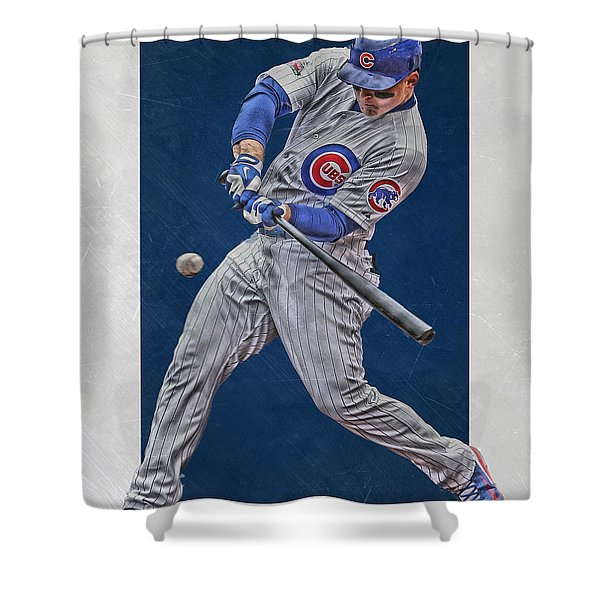 Anthony Rizzo Chicago Cubs Art 1 Shower Curtain