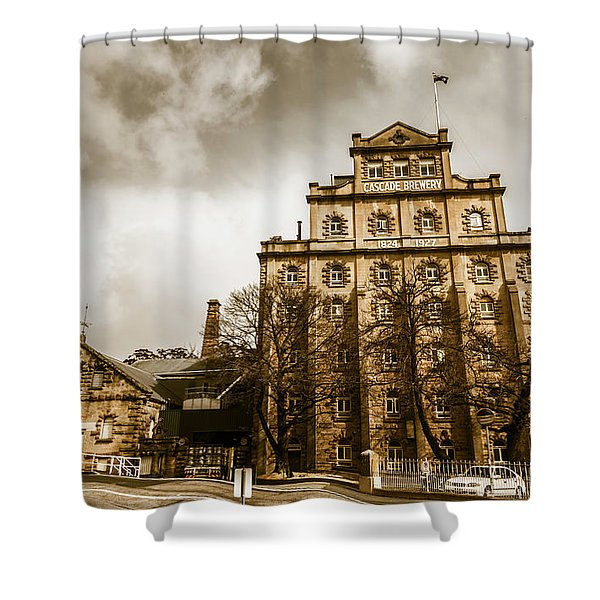Antique Australia Architecture Shower Curtain