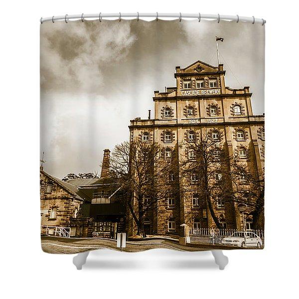 Antique Australia Architecture Shower Curtain