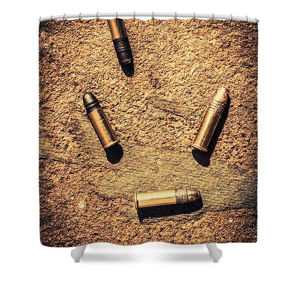 Antique Bullet Art Shower Curtain
