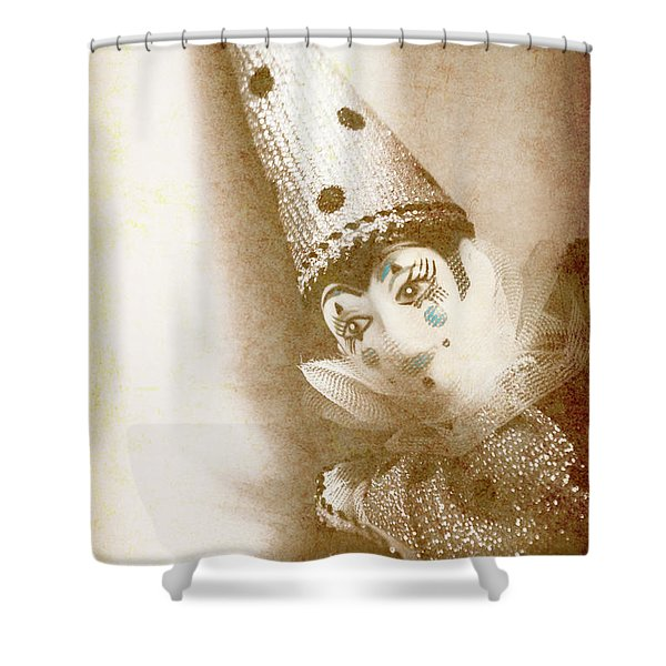 Antique Carnival Doll Shower Curtain