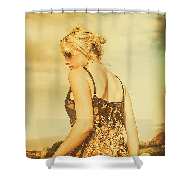 Antique Country Adventure Shower Curtain