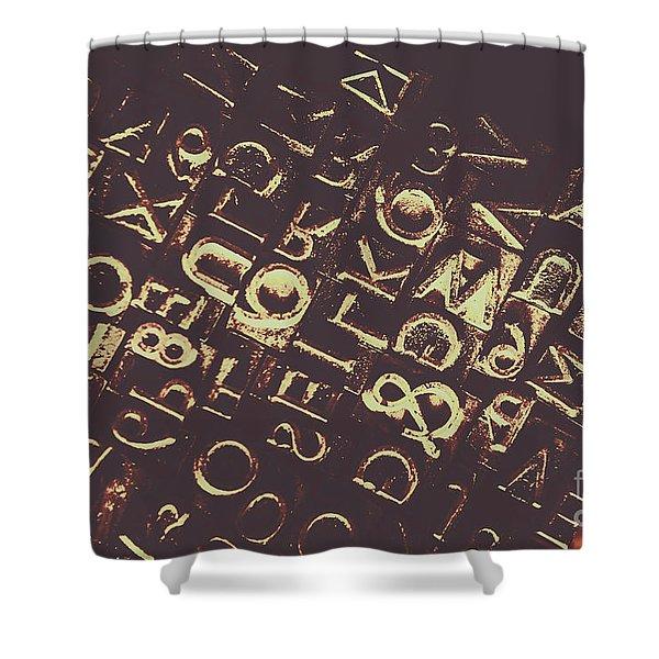 Antique Enigma Code Shower Curtain