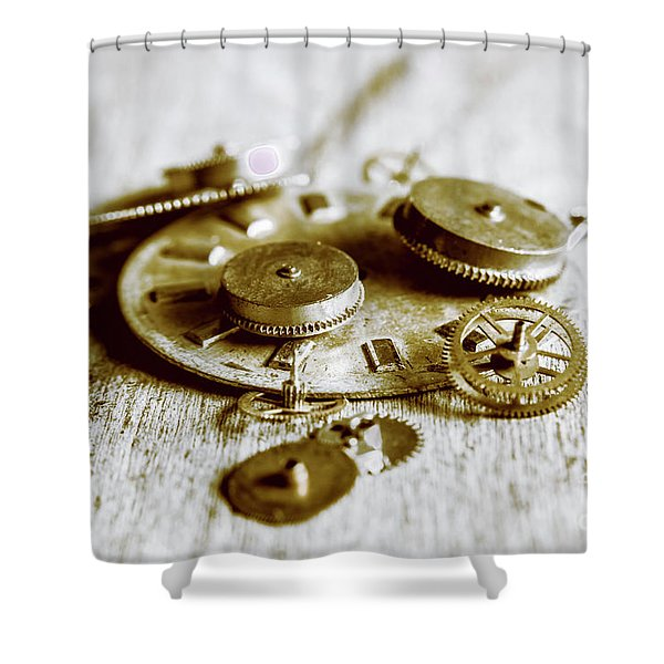Antique Factory Settings Shower Curtain