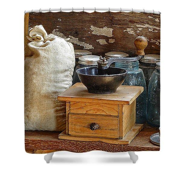 Antique Grinder Shower Curtain