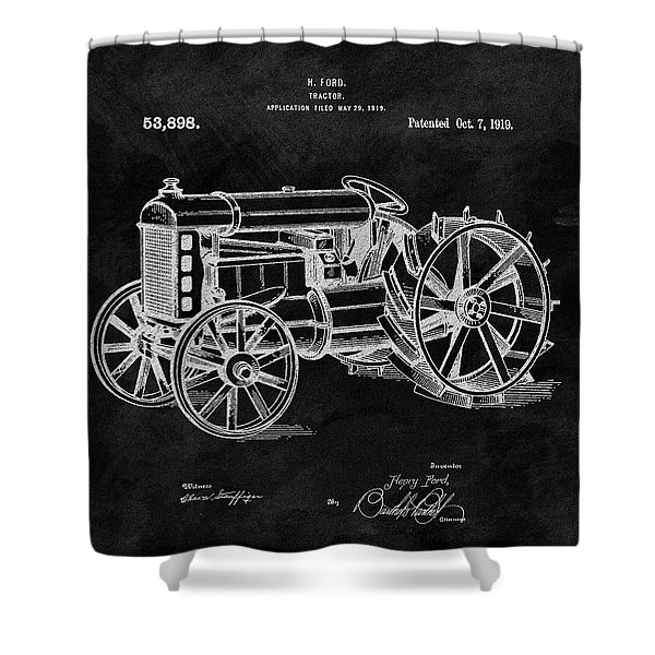 Antique Henry Ford Design Tractor Shower Curtain