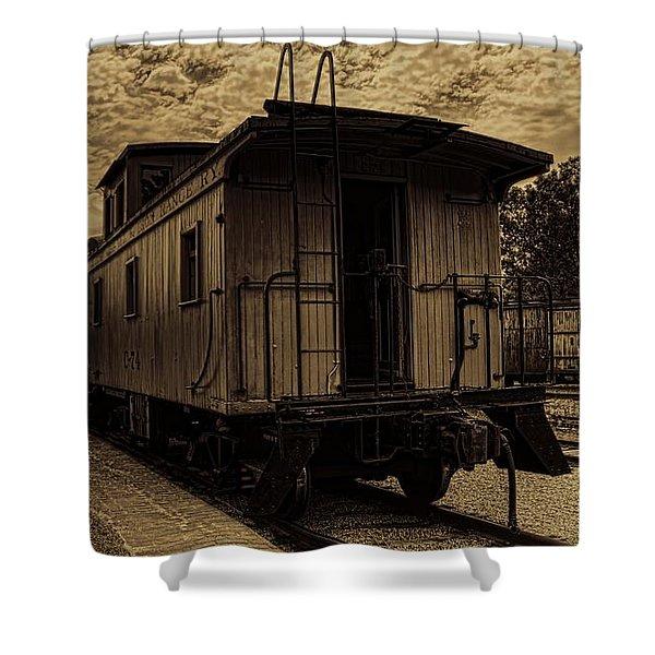 Antique Iron Range Caboose Shower Curtain